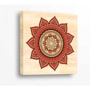 Стикер за стена | Форми, Дърво | Коралова Мандала 216169
