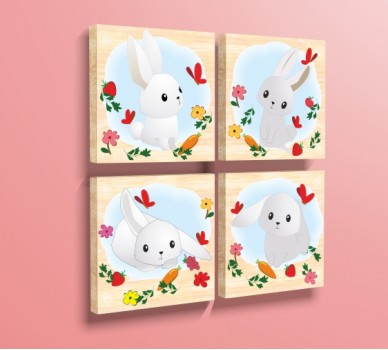 Сладки зайчета WP61020, Комплект от 4