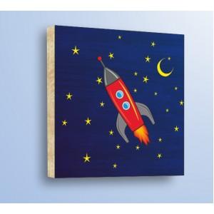 Декорация за стена | Дърво | Ракета в космоса, Дърво