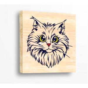 Декорация за стена | За ценители, Дърво | Котка 910003, Дърво