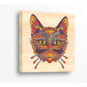 Декорация за стена | За ценители, Дърво | Котка 910107, Индиански Мотиви