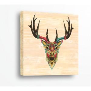 Декорация за стена | За ценители, Дърво | Елен 910108, Индиански Мотиви