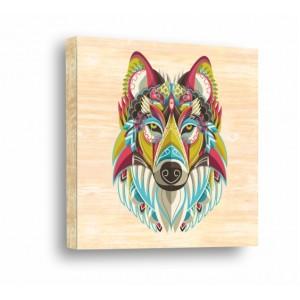 Декорация за стена | За ценители, Дърво | Вълк 910113, Индиански Мотиви