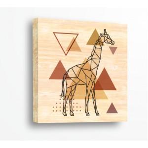 Декорация за стена | За ценители, Дърво | Жираф 910174, Триъгълници