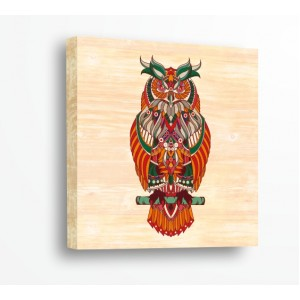 Стикер за стена   За ценители, Дърво   Бухал 91021