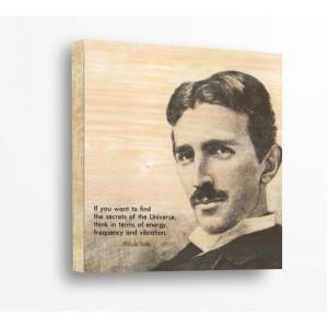 Декорация за стена | За ценители, Дърво | Никола Тесла