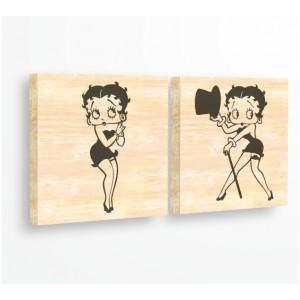 Стикер за стена   За ценители, Дърво   Бети Бууп, Комплект от 2